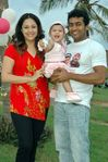 Jyothika with little Diya and Surya