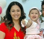 Jyothika with little Diya -  Diya's first birthday